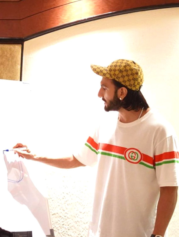 Ranveer Singh gives his fans a sneak peek into his prep as an actor! See pics: