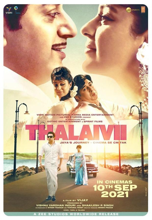 Thalaivii, starring Kangana Ranaut, to hit theaters on September 10