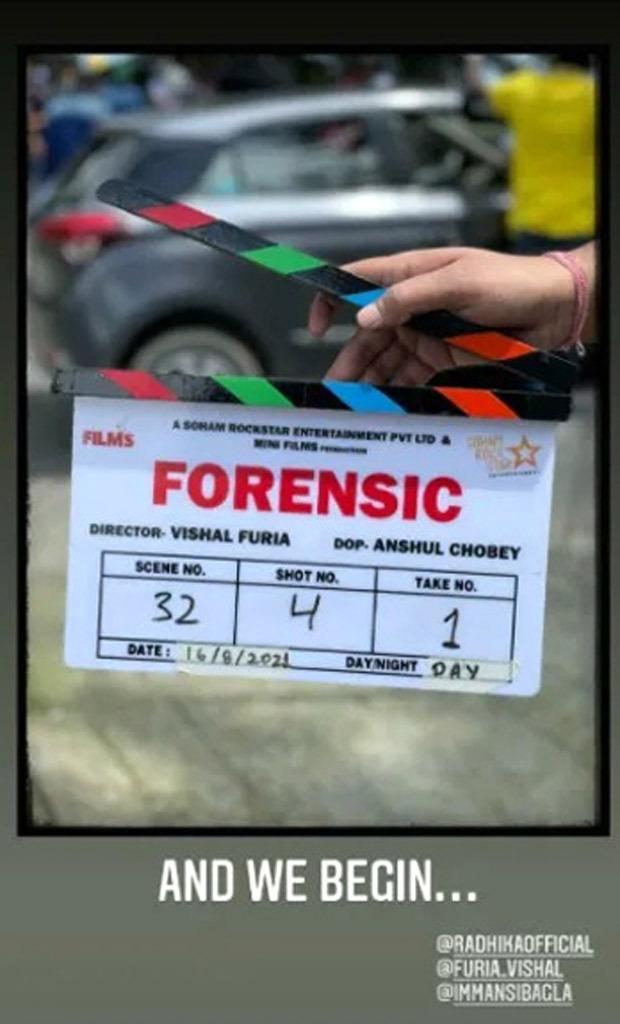 Vikrant Massey and Radhika Apte begin filming for their investigative thriller Forensics in Mussoorie, Uttarakhand