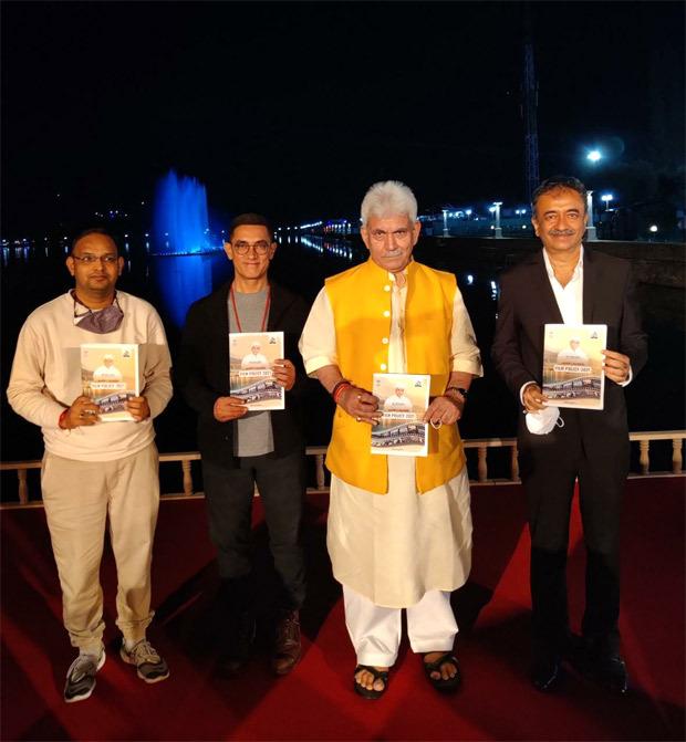 Aamir Khan, Rajkumar Hirani, Mahaveer Jain join Lt Governor of Jammu and Kashmir Manoj Sinha launch new film policy; DETAILS inside