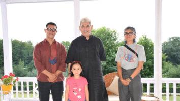 Aamir Khan and Kiran Rao meet Jammu and KashmirLieutenant Governor Manoj Sinha at Raj Bhavan