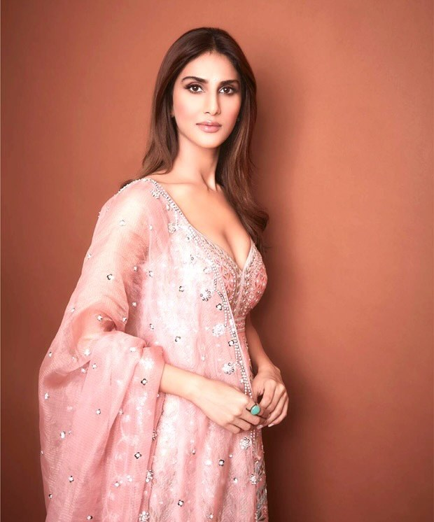 For Bellbottom trailer launch, Vaani Kapoor stuns in blush pink hand embroided Anita Dongre dress worth Rs.1.7 lakh