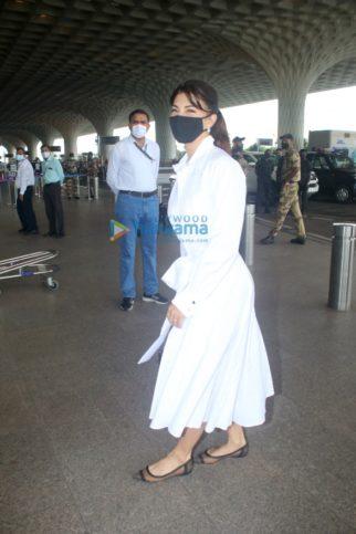 Photos: Jacqueline Fernandez, Mrunal Thakur, Kriti Kharbanda and Pulkit Samrat snapped at the airport