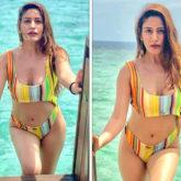 Surbhi Chandna sets internet ablaze in multi-coloured bikini set as she enjoys her Maldives vacation