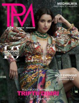 Tripti Dimri On The Covers Of Travel Peacock Magazine