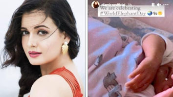 Dia Mirza gives a glimpse of her baby boy Avyaan Azaad Rekhi in a cute elephant print onesie