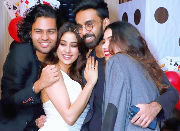 Janhvi Kapoor gets kisses and hugs from her ex-boyfriend Akshat Rajan at a party, watch video