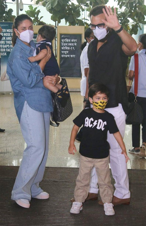 Kareena Kapoor Khan spotted at the airport with Saif Ali Khan and kids Taimur and Jeh carrying a Dior bag worth Rs. 2.8 lakh