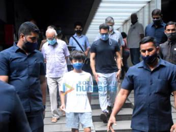 Photos: Aamir Khan, Kiran Rao and Azad Khan spotted in Bandra