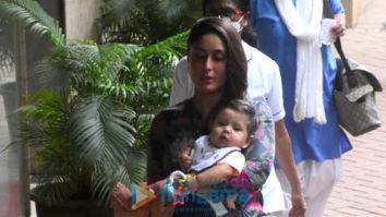 Photos: Kareena Kapoor Khan, Ibrahim Ali Khan and others snapped at Soha Ali Khan's house for Inaaya's birthday