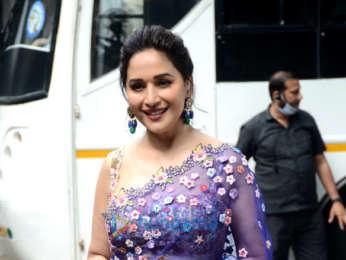 Photos: Madhuri Dixit on the sets of Dance Deewane