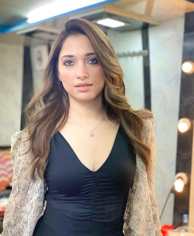 Tamannaah Bhatia makes a smashing statement in a ruched black dress as she posts throwback pictures