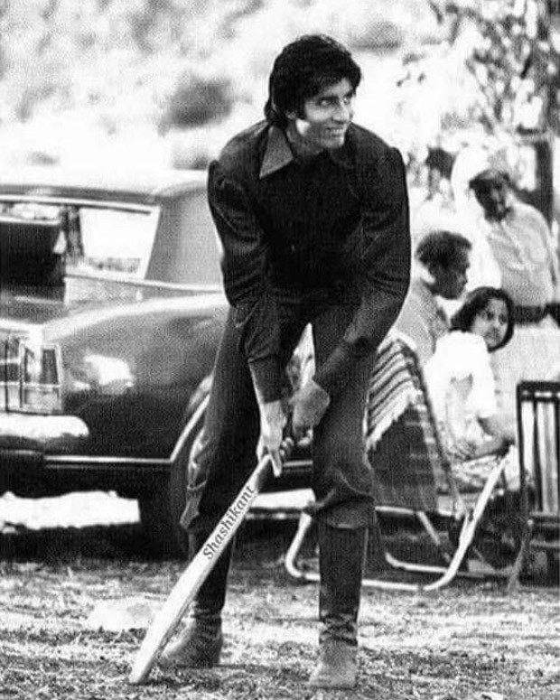 Throwback: Amitabh Bachchan shares a glimpse of playing cricket on sets of Mr Natwarlal