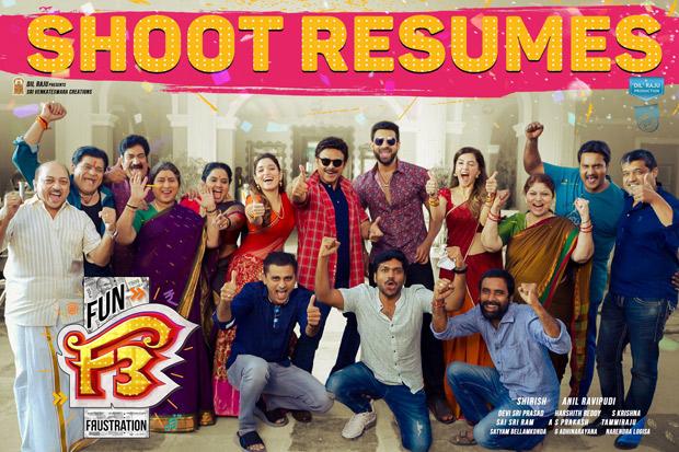 Venkatesh Daggubati, Varun Tej, Tamannaah Bhatia and Mehreen Pirzada resume F3 shoot, watch behind-the-scenes video