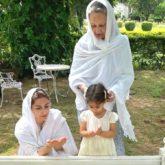 Sharmila Tagore, Soha Ali Khan and Inaaya visit Mansoor Ali Khan Pataudi's grave on his 10th death anniversary
