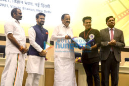 Photos: Rajinikanth, Manoj Bajpayee, Kangana Ranaut, Dhanush and others snapped in Delhi for National Awards 2021 ceremony