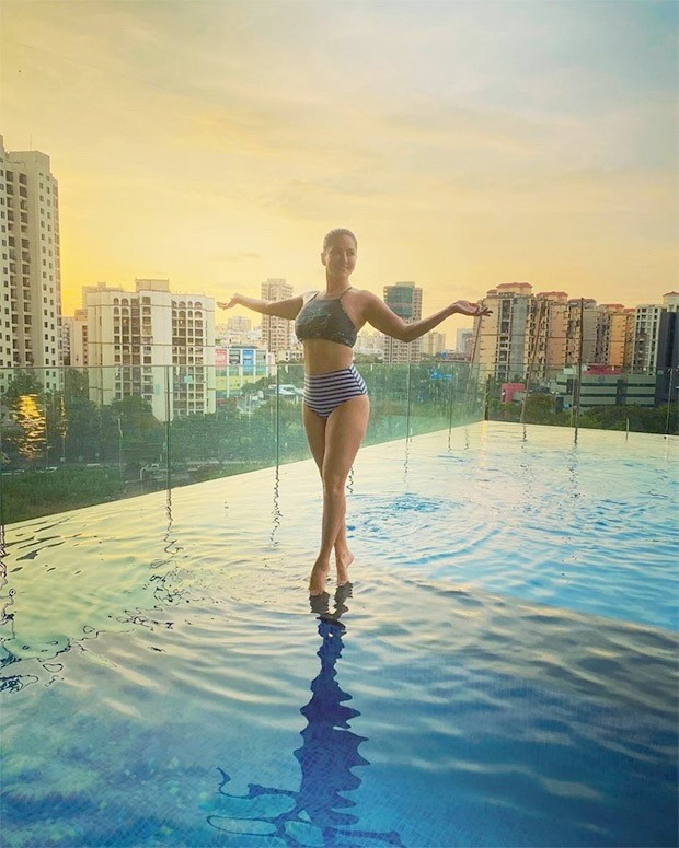Sunny Leone turns up the heat in a bikini set at her infinity pool in Mumbai